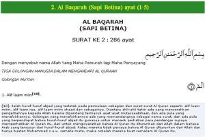 Al Qur'an surat Al Baqarah (Sapi Betina) ayat (2)
