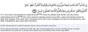 Al Qur'an Surat Al Baqarah (Sapi Betina) ayat (271)