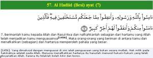 Al Qur'an surat Al Hadiid (Besi) ayat (7)