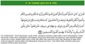 Al Qur'an surat At Taubah ayat (24)