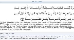 Al Quran Surat Al Kahfi Ayat 50