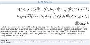 Al Quran Surat Al An'am Ayat 112