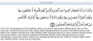 Al Quran Surat Al A'raaf ayat 179