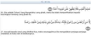 Al QuranSurat Al Jin Ayat 26-27